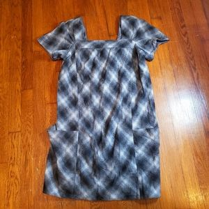 Vince Plaid Mini Dress